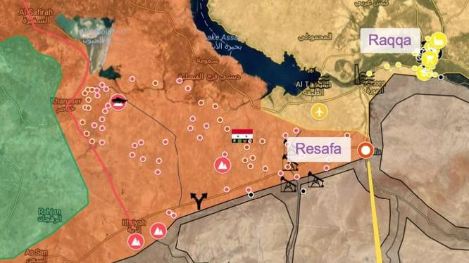 Mũi tiến công chiến lược của lực lượng Tiger về thị trấn Sukhnah tỉnh Homs