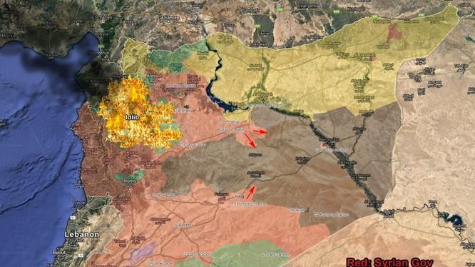 Các mũi nhọn tấn công của lực lượng Tiger và các đơn vị khác thuộc quân đội Syria