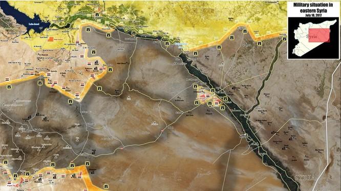 Toàn cảnh chiến trường khu vực phía đông tỉnh Homs