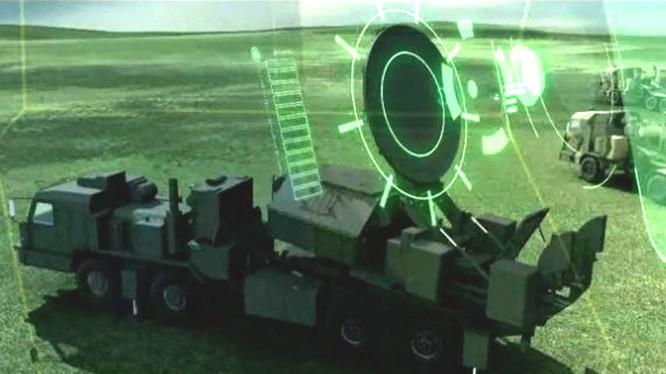 """Đài tác chiến điện tử """"Krasukha -2"""" trong mô phỏng các hoạt động tác chiến"""