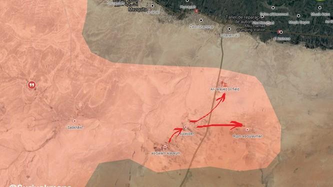 Các mũi tiến công của lực lượng Tiger trên hướng tấn công về Deir Ezzor