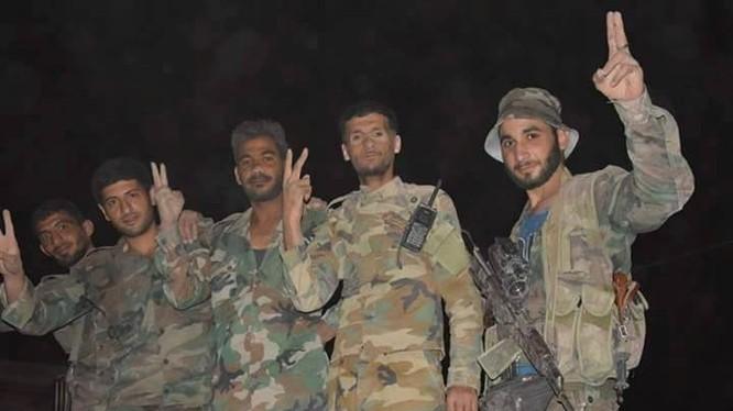 Binh sĩ quân đội Syria trên chiến trường Đông Ghouta - Ảnh Al-Masdar News