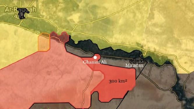 Các mũi tiến công chính của quân đội Syria đánh vào vùng ranh giới tỉnh Deir Ezzorr