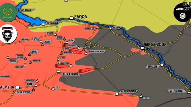 Các mũi tiến công của quân đội Syria trên hướng thành phố Deir Ezzor - ảnh video South Front