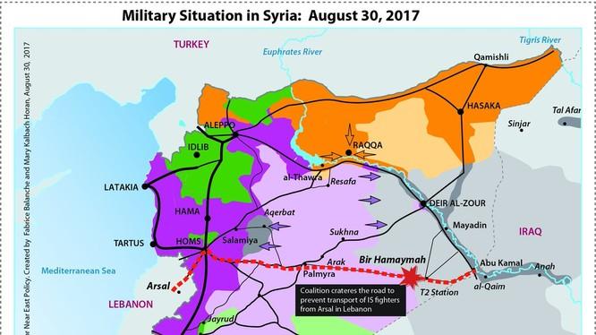 Tình hình chiến trường tam giác Homs, Raqqa, Deir Ezzor - bản đồ South Front