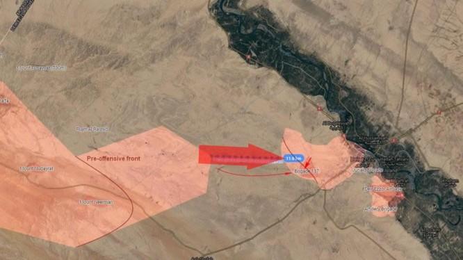 Quân đội Syria tiến công về hướng căn cứ lữ đoàn pháo binh 137 - ảnh South Front