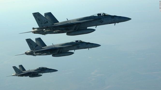 Máy bay liên quân do Mỹ dẫn đầu, hoạt động trên vùng trời Syria - ảnh minh họa Masdar News