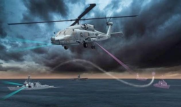 MH-60 Sikorsky sẽ được trang bị hệ thống AOEW đánh chặn tên lửa chống tàu - ảnh minh họa của Lockheed Martin