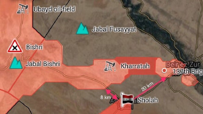 Sơ đồ quân đội Syria giải phóng làng Ash-Shula - bản đồ South Front