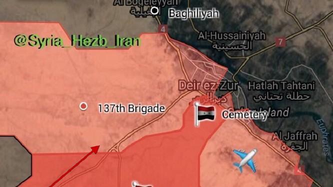 Các mũi tiến công của quân đội Syria trên chiến trường Deir Ezzor tính đến ngày 11.09.2017 theo South Front