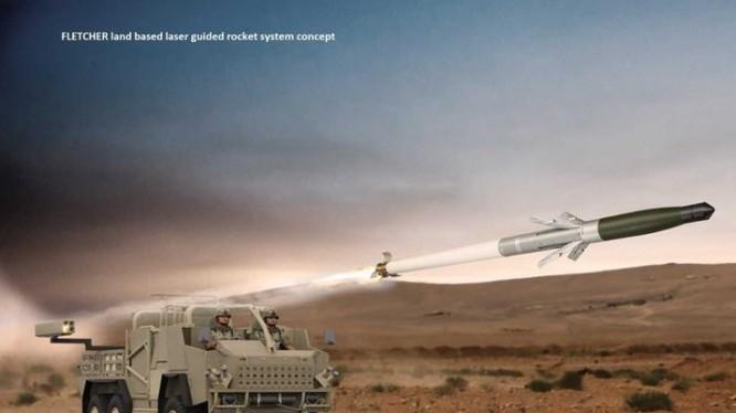 Xe cơ giới lắp hệ thống tên lửa APKWS ảnh defensenews.com