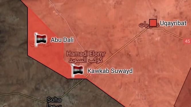 Thị trấn Uqayribat hoàn toàn được quân đội Syria giải phỏng - bản đồ South Front