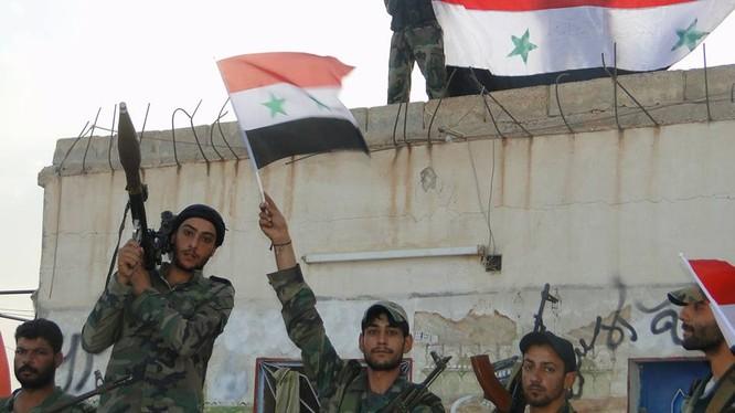 Lực lượng Lá chắn Qalamoun giải phóng khu vực chiến lược Qalib Al-Thawr, tỉnh Hama - ảnh Masdar News