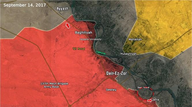 Các mũi tiến công của quân đội Syria vùng nội thị và phía đông nam thành phố Deir Ezzor - ảnh South Front