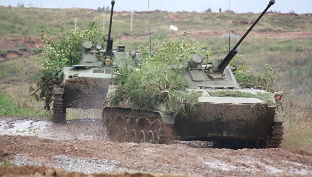 Một đơn vị hỗn hợp Nga - Belarus hiệp đồng tác chiến - ảnh RIA.Novosti