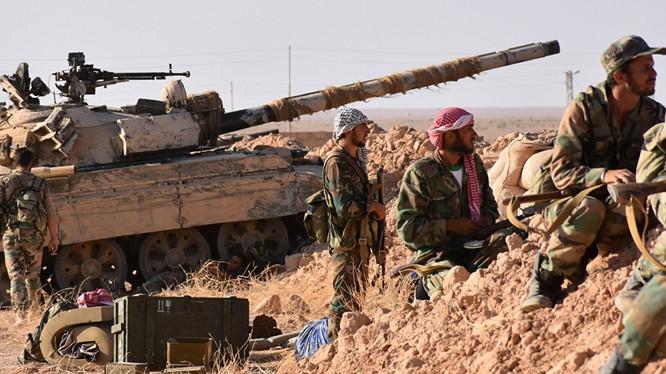 Quân đội Syria tiến công trên chiến trường Deir Ezzor - ảnh minh hoa Masdar News