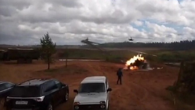 Vụ tai nạn trên thao trường của trực thăng Ka-52 - ảnh video trang 66.ru