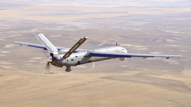 Máy bay không người lái chiến đầu Iran UAV Shahed-129 trên chiến trường Syria - ảnh Masdar News