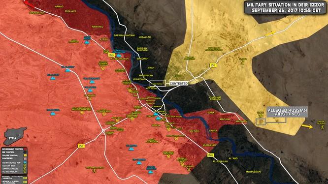 Những khu vực gia tăng căng thẳng trên chiến trường Deir Ezzor - bản đồ South Front