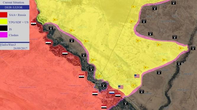 Bản đồ tình hình chiến sự Deir Ezzor - ảnh South Front