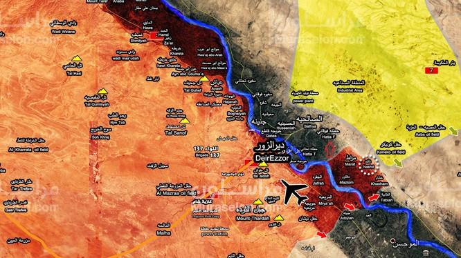 Bản đồ tình hình chiến sự khu vực tỉnh Homs, Deir Ezzor tính đến ngày 29.09.2017 - ảnh South Front