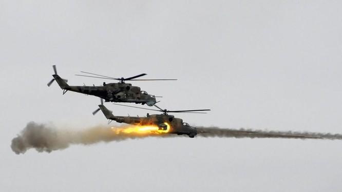 Trực thăng tấn công không quân Nga ở Syria - ảnh minh họa Muraselon