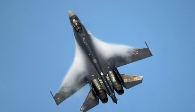 Máy bay tiêm kích đa năng Su-35 trên chiến trường Syria - ảnh minh họa Masdar News