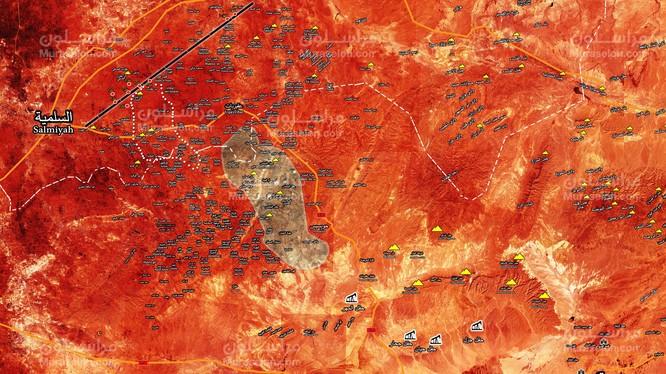 Quân đội Syria giải phóng một vùng rộng lớn phía bắc vòng vây IS ở Hama - ảnh Muraselon