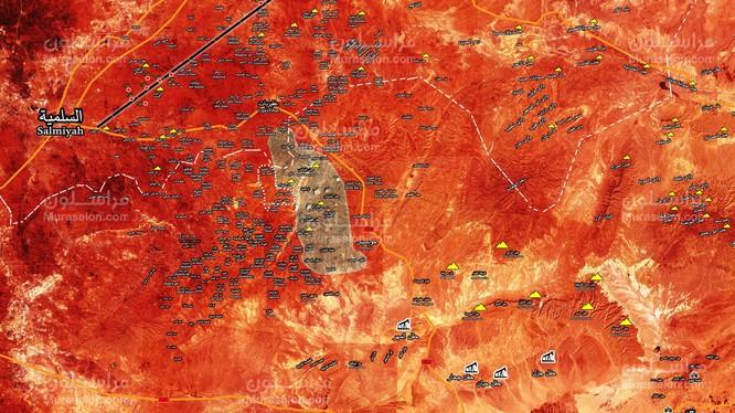 Những ngôi làng quân đội Syria vừa giải phóng trong ngày 05.20.2017 theo Muraselon