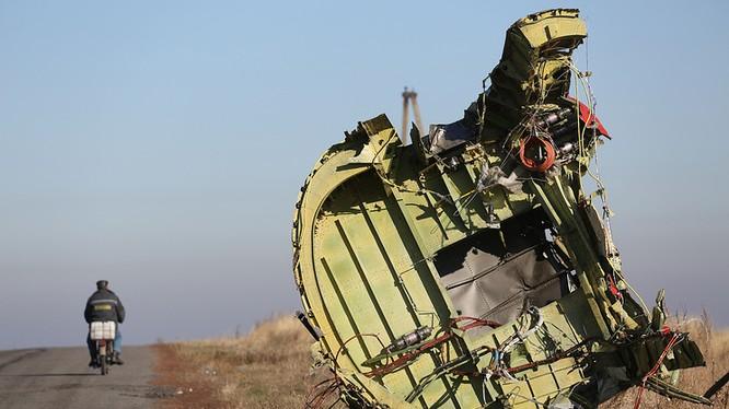 Một mảnh vỡ của chiếc Boeing MH-17, ảnh năm 2014 TASS
