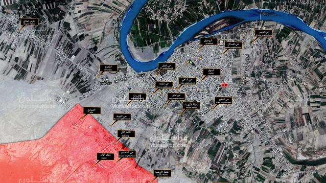 Bản đồ chiến sự thành phố Al-Mayadeen tính đến ngày 06.10.2017 theo South Front