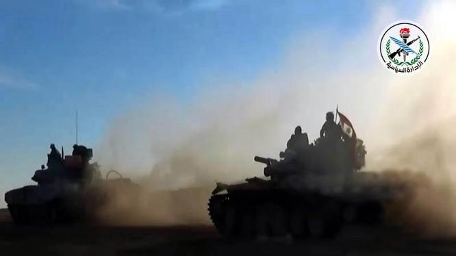 Quân đội Syria tấn công trên chiến trường thành phố Mayadeen - ảnh minh họa South Front
