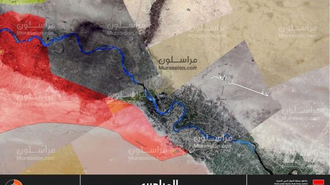 Tổng quan tình hình chiến trường Deir Ezzor tính đến ngày 08.102017 theo Muraselon