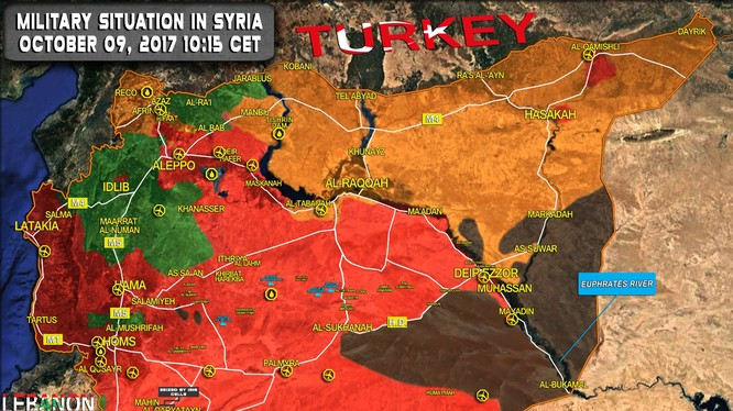 Toàn cảnh bản độ chiến sự vùng Homs - Deir Ezzor - ảnh South Front