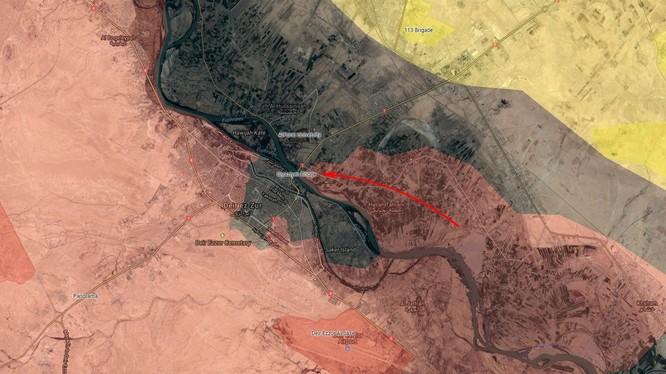 Quân đội Syria tiến công đánh chiếm cây cầu Siyasiyah, Dier Ezzor - ảnh South Front