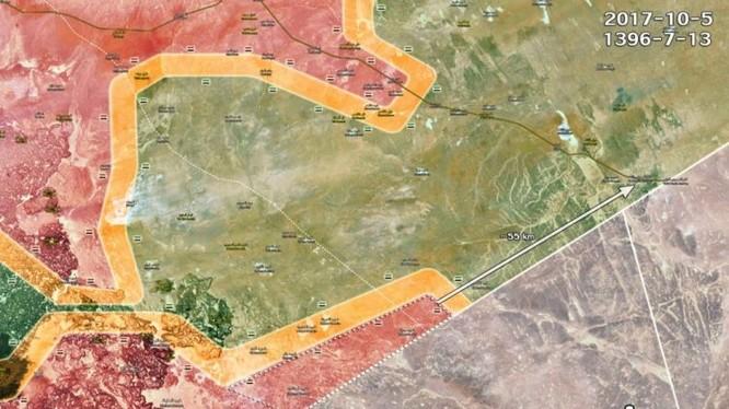 Quân đội Syria tiến công dọc theo biên giới với Jordan, giải phóng khoảng 8000 km2 biên giới - ảnh Masdar News