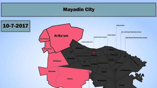 Những khu vực lực lượng Tiger giành được trong thành phố Al-Mayadeen - ảnh South Front