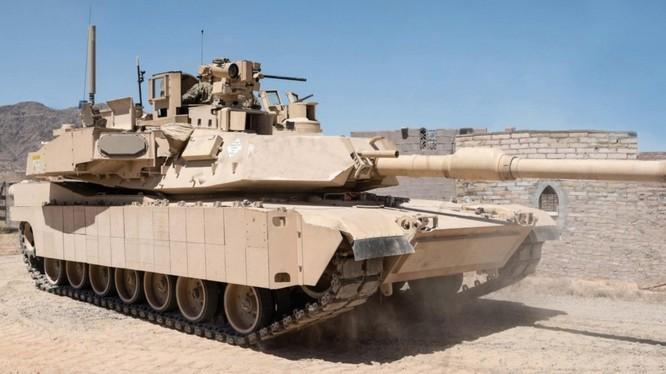 Xe tăng M1A2 SEPv2 Abrams lắp hệ thống phòng thủ tích cực Israel Trophy - ảnh The Driver. Mỹ