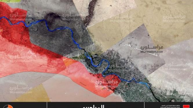 Quân đội Syria hoàn toàn giải phóng thành phố Mayadeen - bản đồ Muraselon