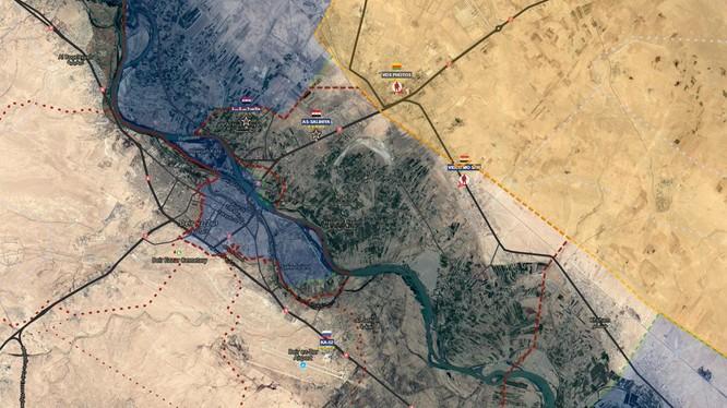 Chiến trường phía tây bắc thành phố Deir Ezzor, bờ đông sông Euphrates, quân đội Syria giải phóng thị trấn al-Husayniyah- ảnh South Front