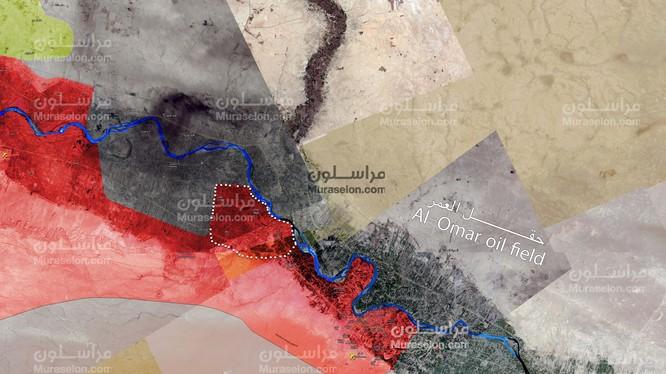 Khu vực những ngôi làng và thị trấn mới được lực lượng Tiger giải phóng ở Deir Ezzor - ảnh Muraselon