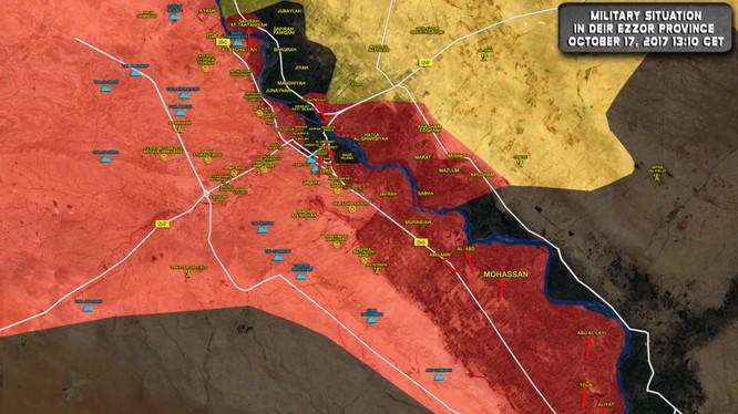 Quân đội Syria tiến công giải phóng các khu dân cư trên địa phận tỉnh Deir Ezzor - ảnh South Front