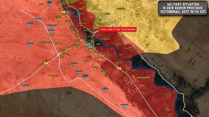 Các mũi tiến công của quân đội Syria trên chiến trường Deir Ezzor - ảnh South Front