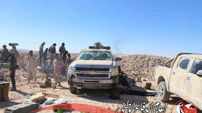 Binh sĩ quân đội Syria trên chiến trường al-Qaryatayn, Homs - ảnh minh họa South Front