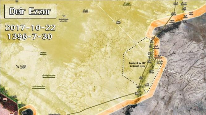 Chiến trường Deir Ezzor khu mỏ dầu Omar - bản đồ minh họa South Front