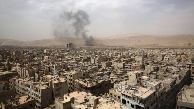 Khu vực ngoại ô Damascus, nơi diễn ra cuộc chiến khốc liệt giữa quân đội Syria và FSA - HTS