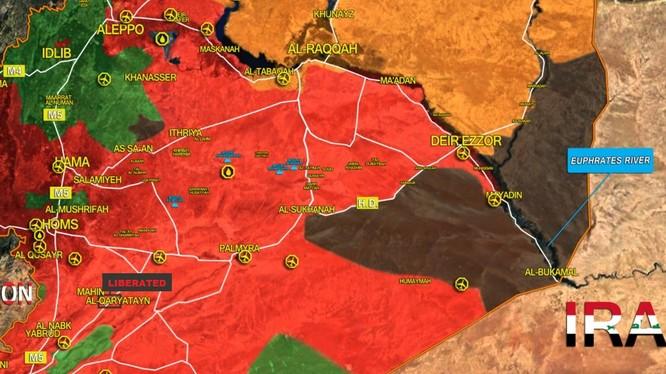 Thành phố cổ Kito giáo Quraytayn đã hoàn toàn giải phóng - bản đồ South Front
