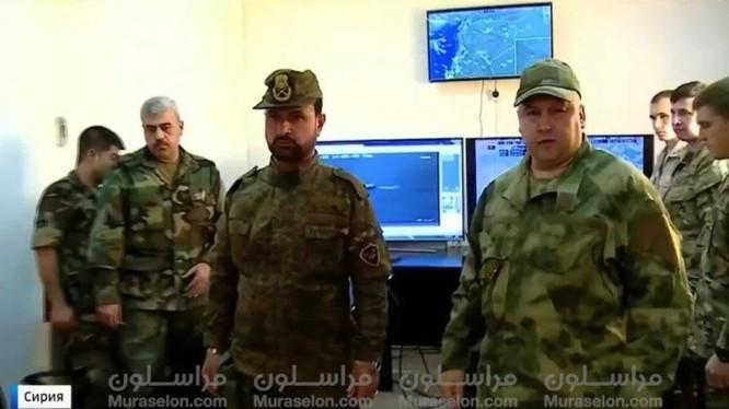 Sở chỉ huy tiền phương của lực lượng Tiger trong thành phố Mayadeen - ảnh video kênh 1 truyền hình Nga