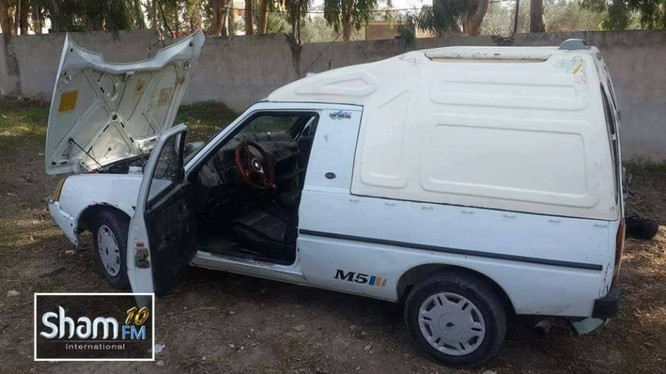 Xe đánh bom tự sát của phiến quân ở Latakia - ảnh video Sham-FM