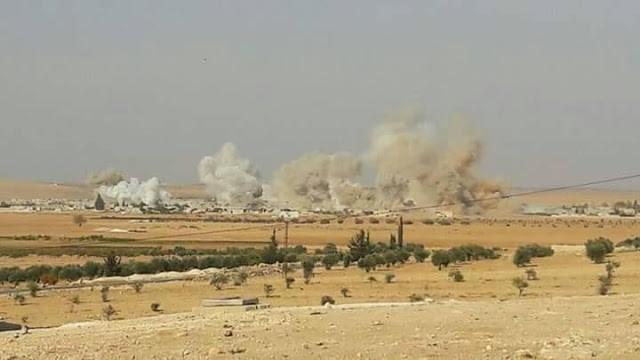 Pháo binh, tên lửa quân đội Syria bắn phá dữ dội khu vực Hama - ảnh minh họa Masdar News